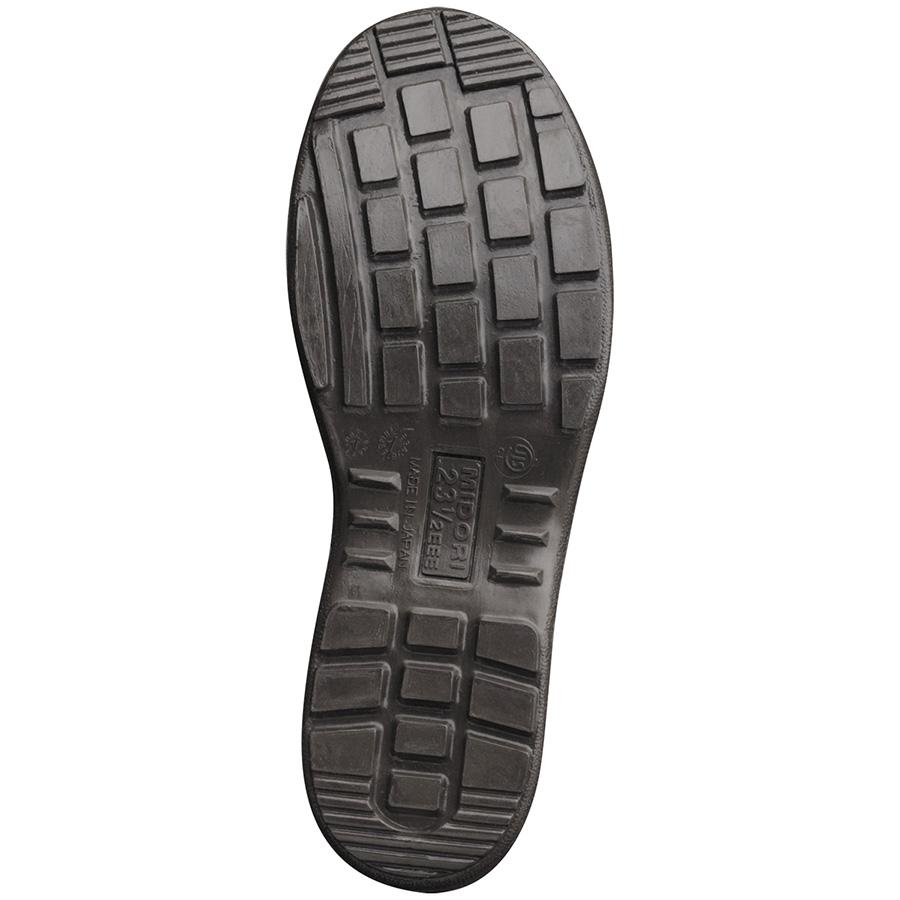 女性用 安全靴 ハイ・ベルデ コンフォート LCF230F オールハトメ ブラック