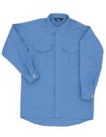 綿100% 男子長袖シャツ GS2373 上 ライトブルー