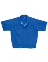 混紡 ペア半袖ブルゾン GS348 上 ロイヤルブルー