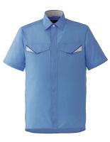 ベルデクセルフレックス 半袖シャツ VES23 上 ブルー