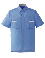 ベルデクセルフレックス 半袖シャツ VES43 上 ブルー