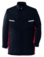 ベルデクセルフレックス 長袖シャツ VES245 上 ネイビー×レッド