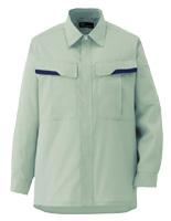 ベルデクセルフレックス 男女兼用 長袖シャツ VES266 上 ライトグリーン
