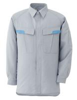 ベルデクセル IEC対応高機能 男女ペア長袖シャツ VES281 上 シルバーグレー