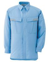 ベルデクセル IEC対応高機能 男女ペア長袖シャツ VES283 上 ブルー