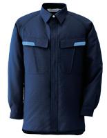 ベルデクセル IEC対応高機能 男女ペア長袖シャツ VES287 上 ネイビー