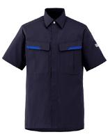 ベルデクセルフレックス 半袖シャツ VES67 上 ネイビー