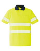 ベルデクセル フレックス 高視認半袖ポロシャツ VES354 上 イエロー