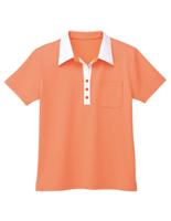 男女共用 半袖スキッパー HM−1619 14 マンゴーオレンジ 4L・5L