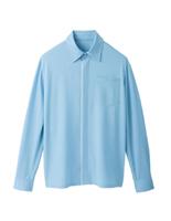 ユニセックス 長袖ニットシャツ 63362 サックス