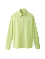 ユニセックス 長袖ニットシャツ 63374 イエローグリーン