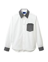 ユニセックス 長袖シャツ 63398 ホワイト