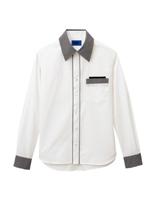 ユニセックス 長袖シャツ 63418 ホワイト