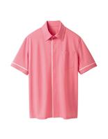 ユニセックス 半袖ニットシャツ 63343 ピンク