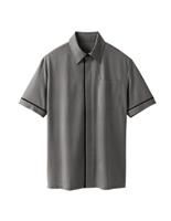 ユニセックス 半袖ニットシャツ 63349 グレー