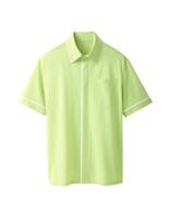 ユニセックス 半袖ニットシャツ 63354 イエローグリーン