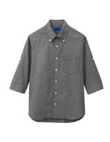 ユニセックス 五分袖シャツ 63380 ブラック