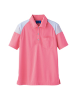 ユニセックス ポロシャツ 65376 コーラルピンク SS〜3L