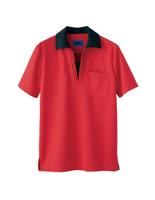 ユニセックス ポロシャツ 65393 レッド 4L