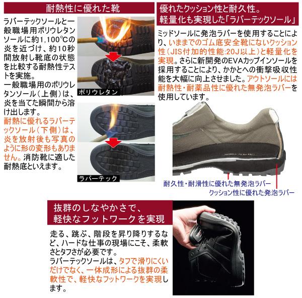 女性用 ラバーテック 安全靴 LRT910 ブラック
