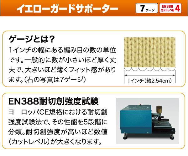 イエローガードサポーター10 10双/袋(販売単位:10袋)