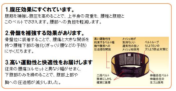 腰部保護ベルト DR−1L (女性用) らくようたい ホワイト L