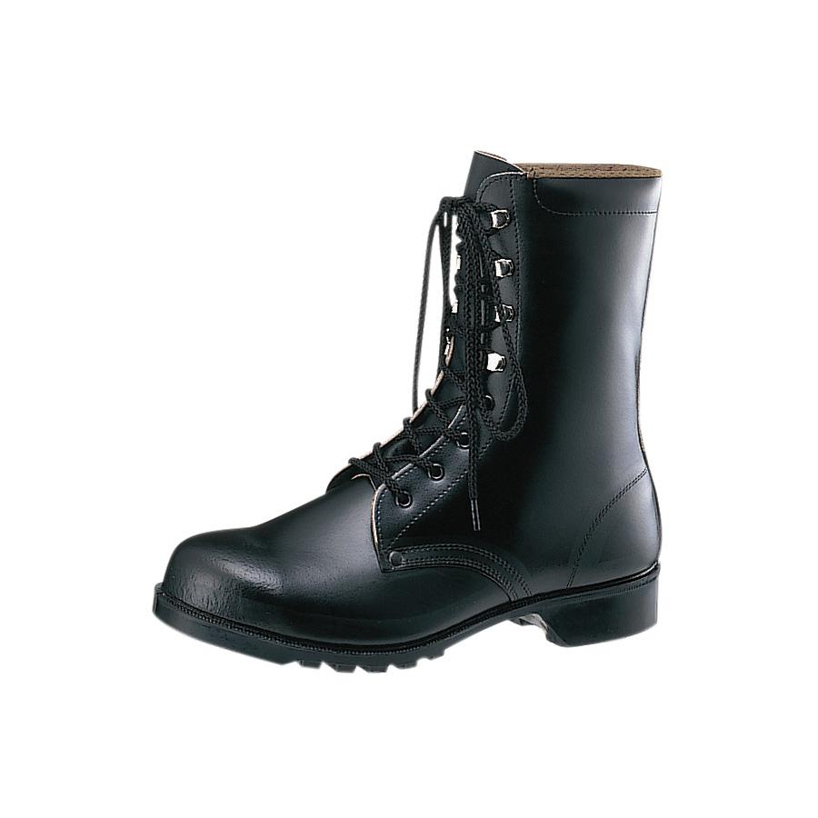 耐油・耐薬仕様ゴム底安全靴・長編上靴 V213NT ブラック