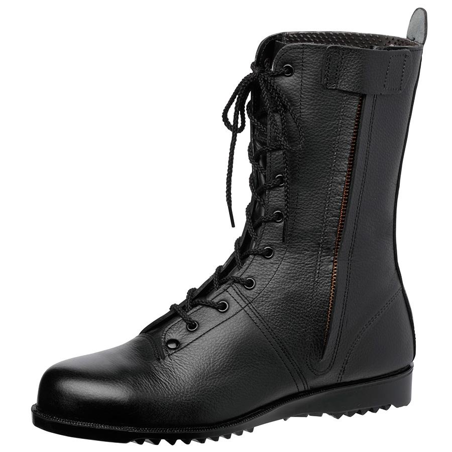高所作業用安全靴 VS5311NF オールハトメ ブラック