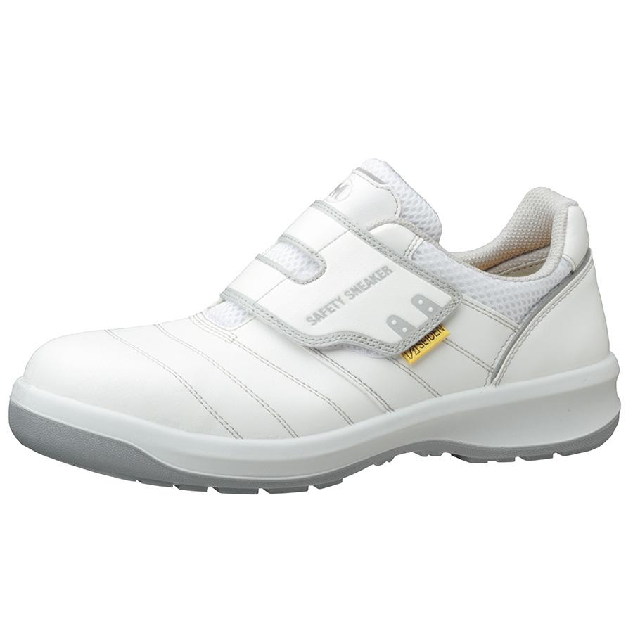 安全靴 G3595 静電 (マジックタイプ) ホワイト 大