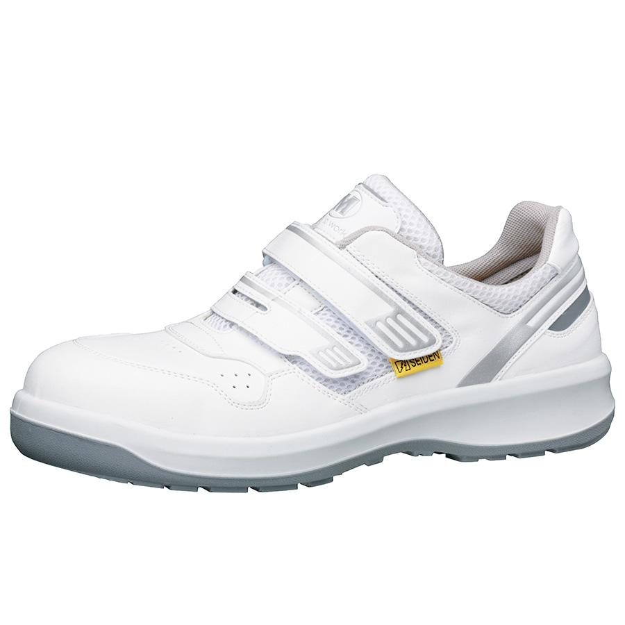 安全靴 G3695 (マジックタイプ) 静電 ホワイト