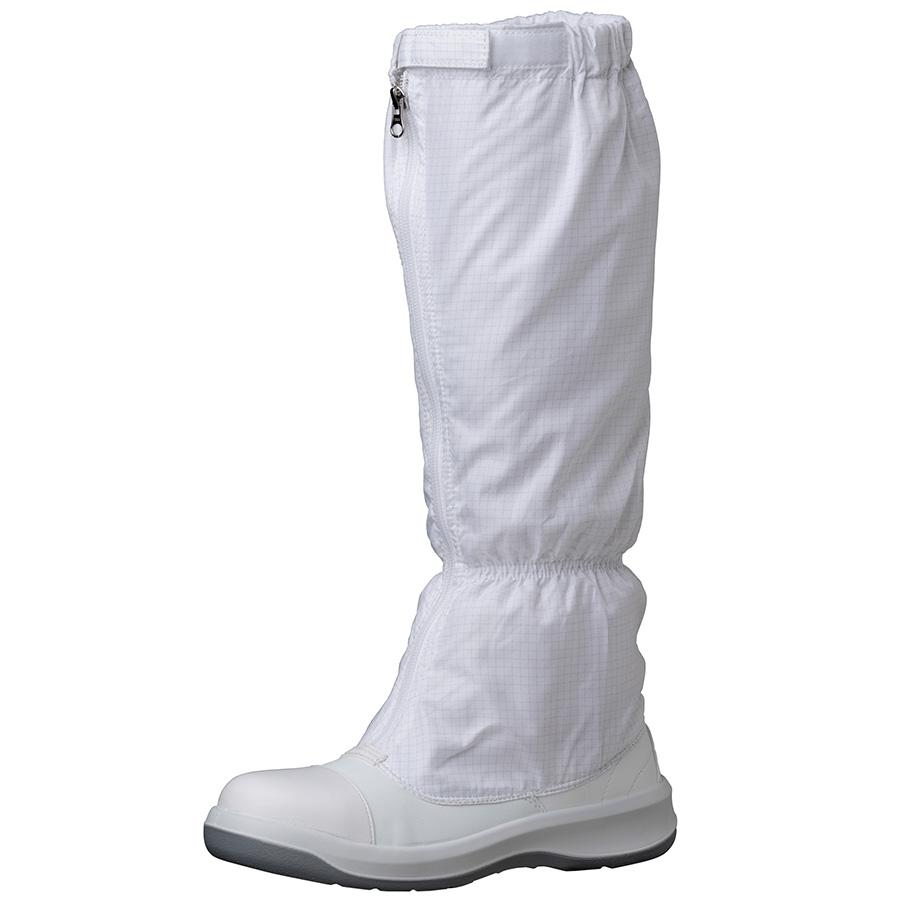 静電安全靴 GCR1200 フルCAP フード ホワイト 大