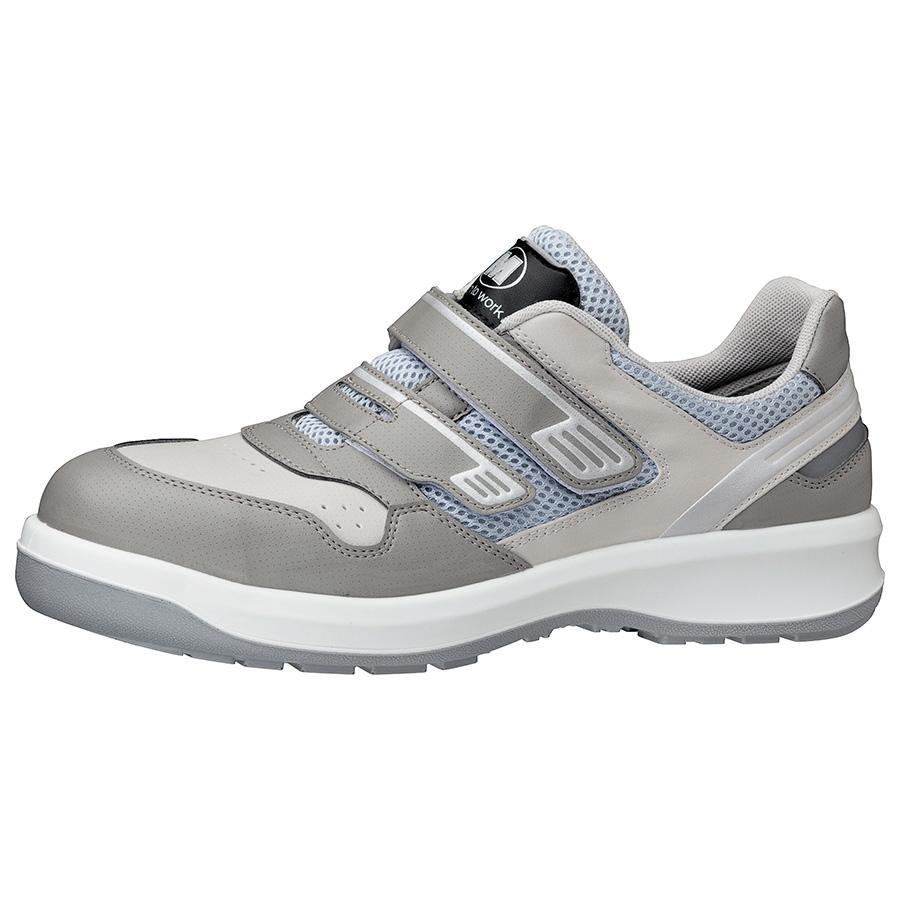 安全靴 G3695 (マジックタイプ) グレイ 小