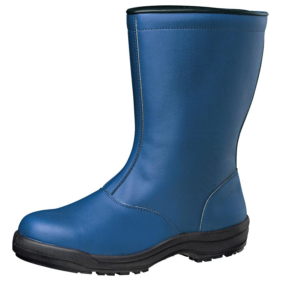 冷凍庫内作業用 耐滑安全靴 SG240 防寒ネイビー 大