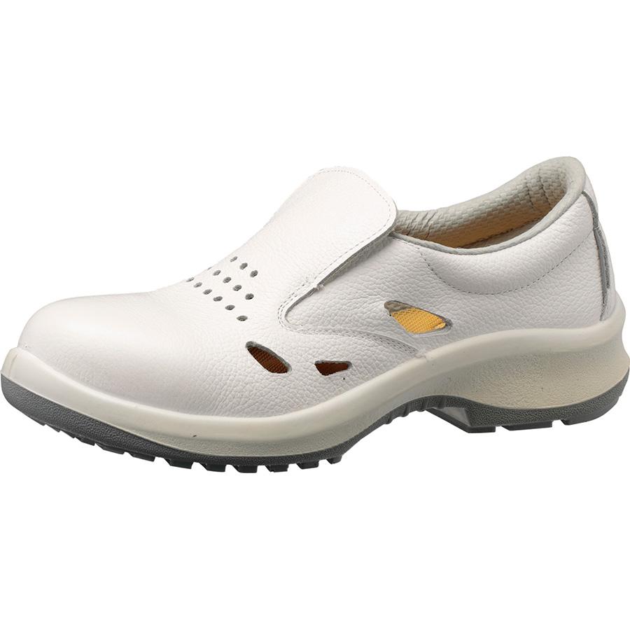 静電安全靴 プレミアムコンフォート LPM200 通気静電 ホワイト