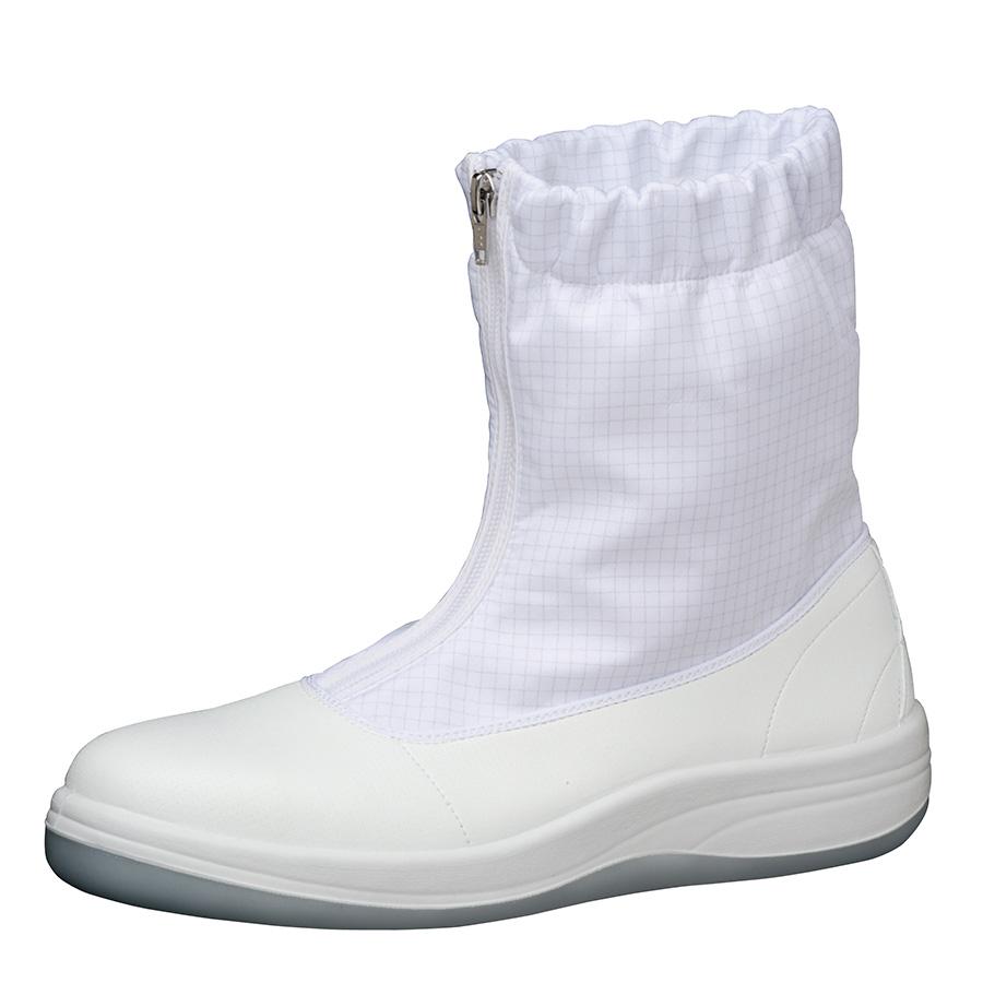 静電安全靴 SCR1200 ハーフ フード ホワイト