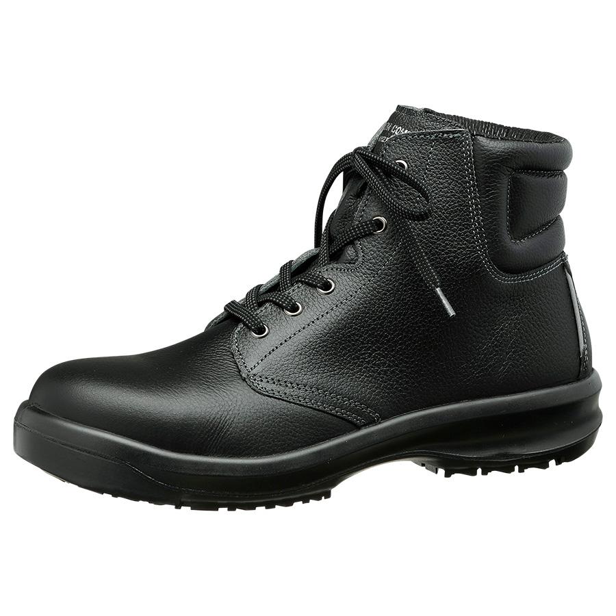 超耐滑底安全靴 ハイグリップセフティ・中編上靴 HGS520 ブラック 大