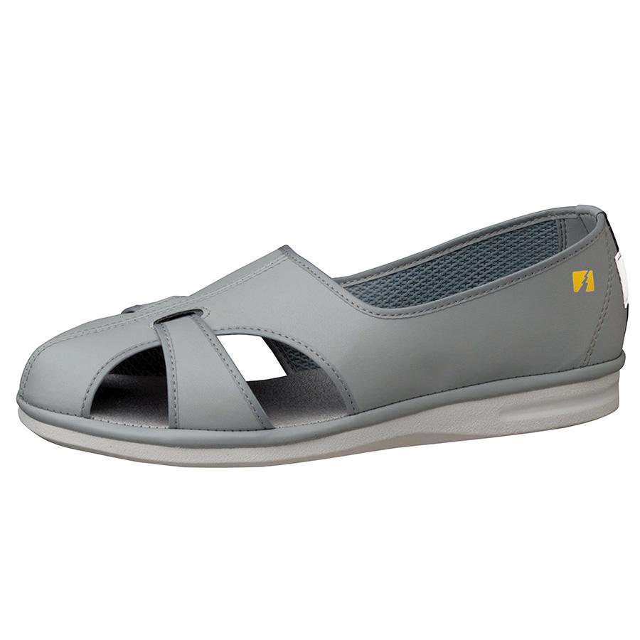 男女兼用 静電作業靴 PS−01S 大 グレイ