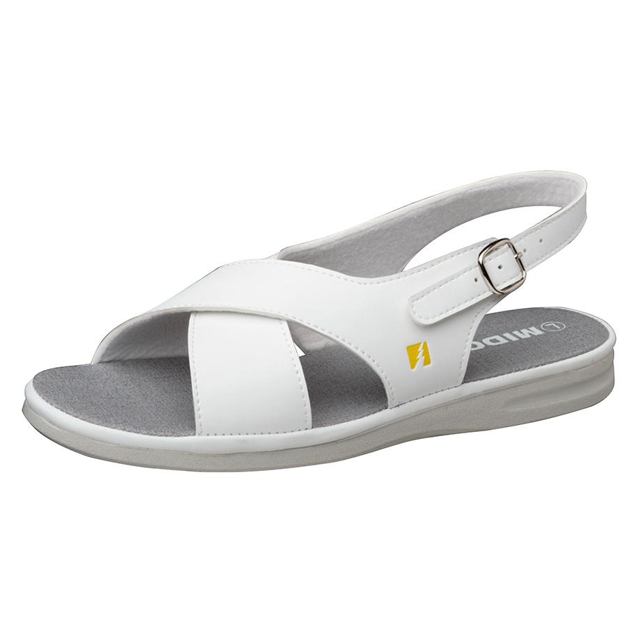 女性用 静電作業靴 PSレディCB ホワイト