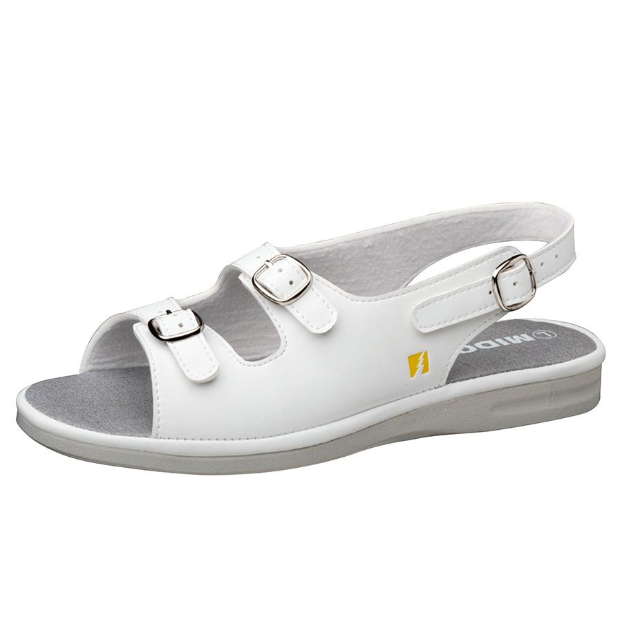 女性用 静電作業靴 PSレディWB ホワイト