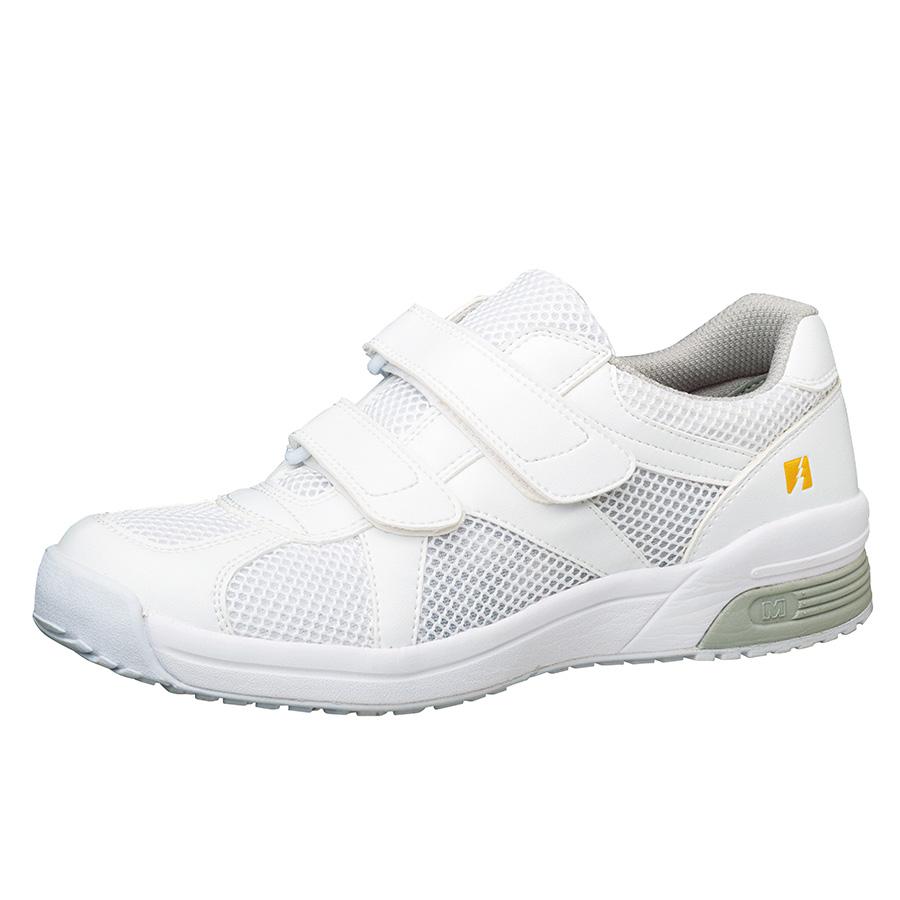 男女兼用 静電作業靴 エレパス307 ホワイト