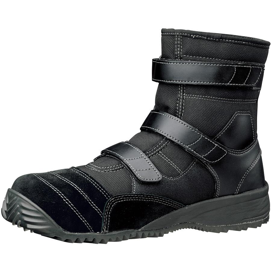 屈曲作業向け 先芯入り作業靴 トビスニ TS−125N ブラック