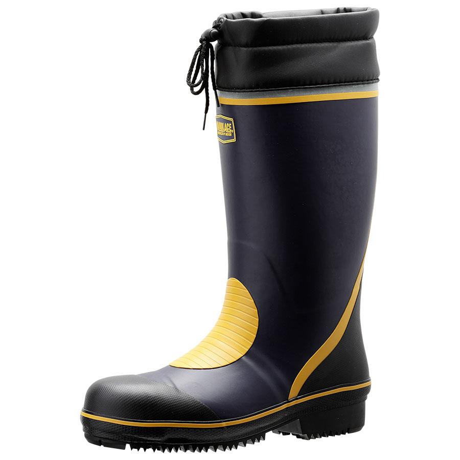 防寒用安全長靴 ワークプラスブーツ 777防寒 ネイビー