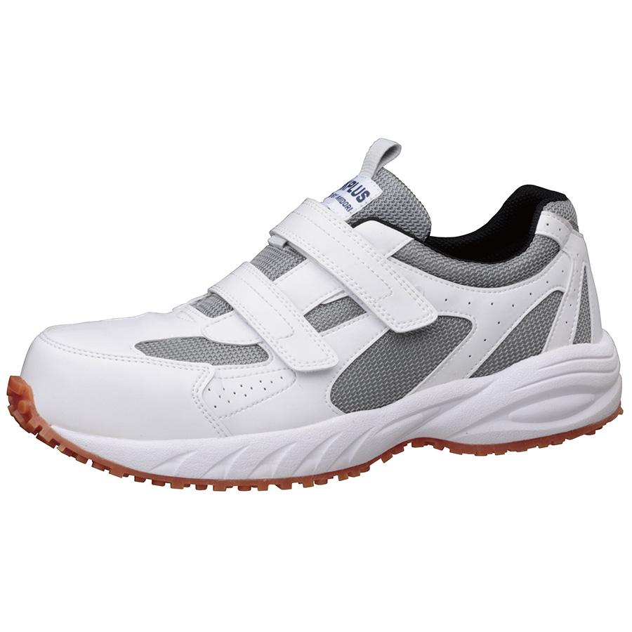先芯入り屋根上作業靴 ヤネグリップ YG−15 ホワイト/シルバー