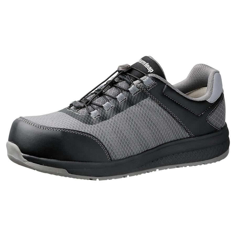 高反発作業靴 Quantum leap QL−01 ブラック/グレイ