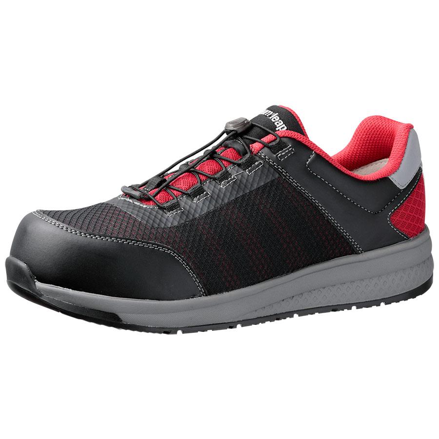 高反発作業靴 Quantum leap QL−01 ブラック/レッド