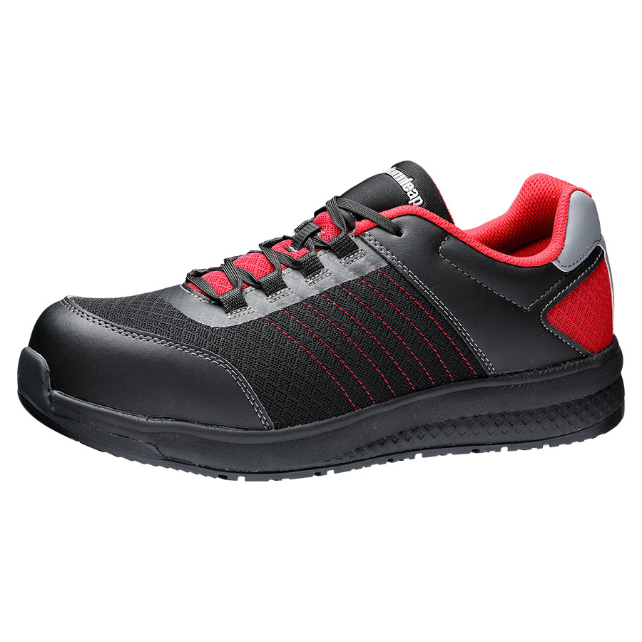 高反発作業靴 Quantum leap QL−01N ブラック/レッド
