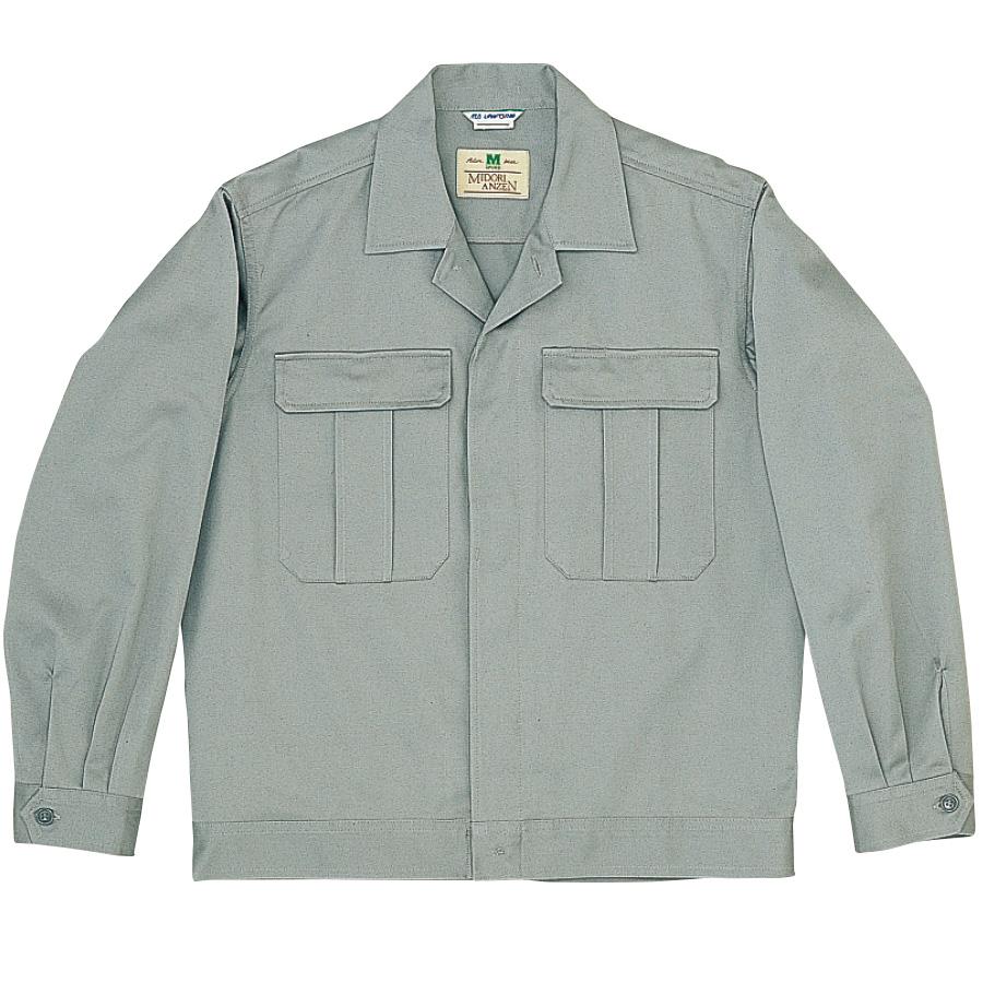 綿2つポケットジャンパー M6071 上 グレー