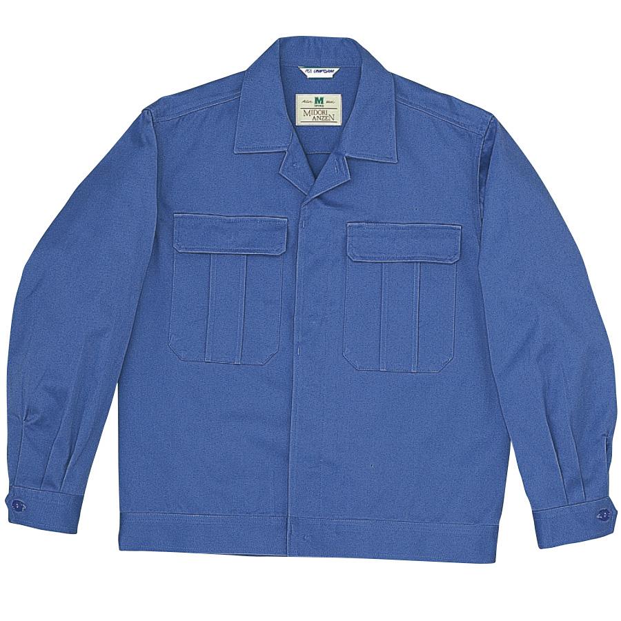 綿2つポケットジャンパー M6077 上 ブルー