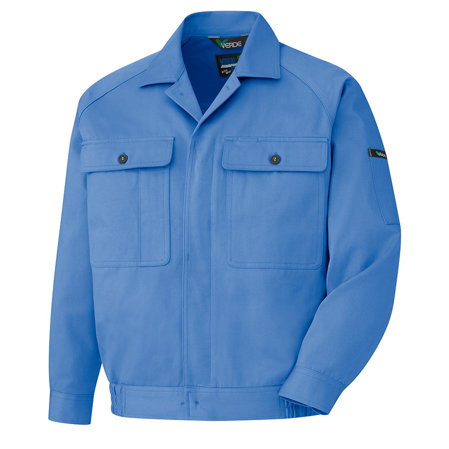 綿ブルゾン M6477 上 ブルー