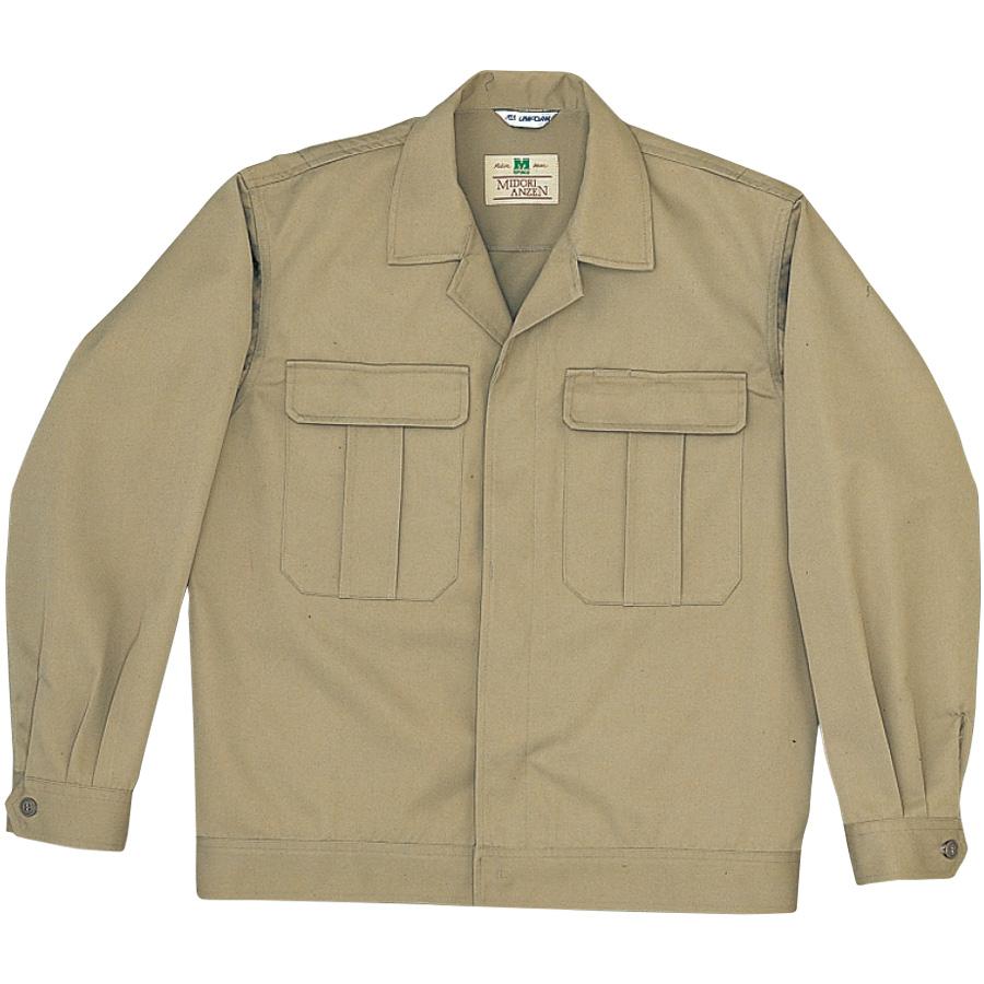 混紡2つポケットジャンパー M5200 上 ベージュ